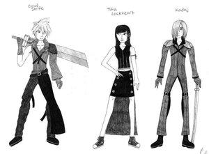Cloud, Tifa, Kadaj Sketch by Final-FantasyVIIClub