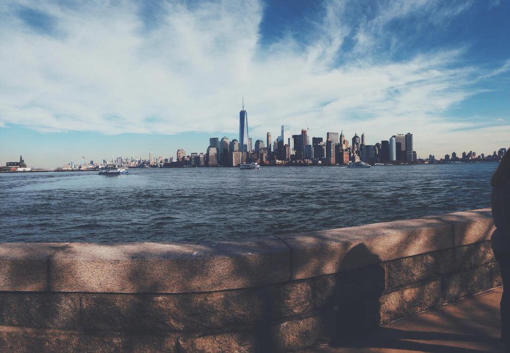 Manhattan Skyline From Liberty Island by winxkinz67