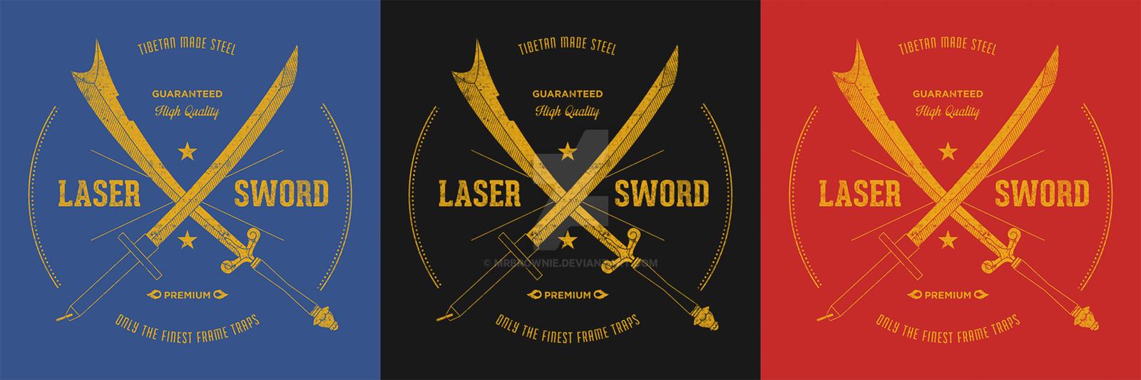 Tibetan Steel Laser Sword T-shirt by mrbrownie