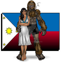 ANGELINE and THE KAPRE from The Philippines by Smitty309