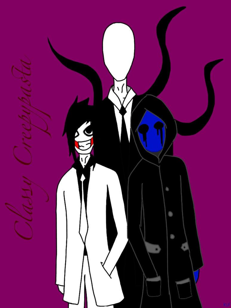 Classy Creepypasta - Slender, Jeff and Jack by KLDono