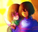 Chara And Frisk by Ao--hoshi