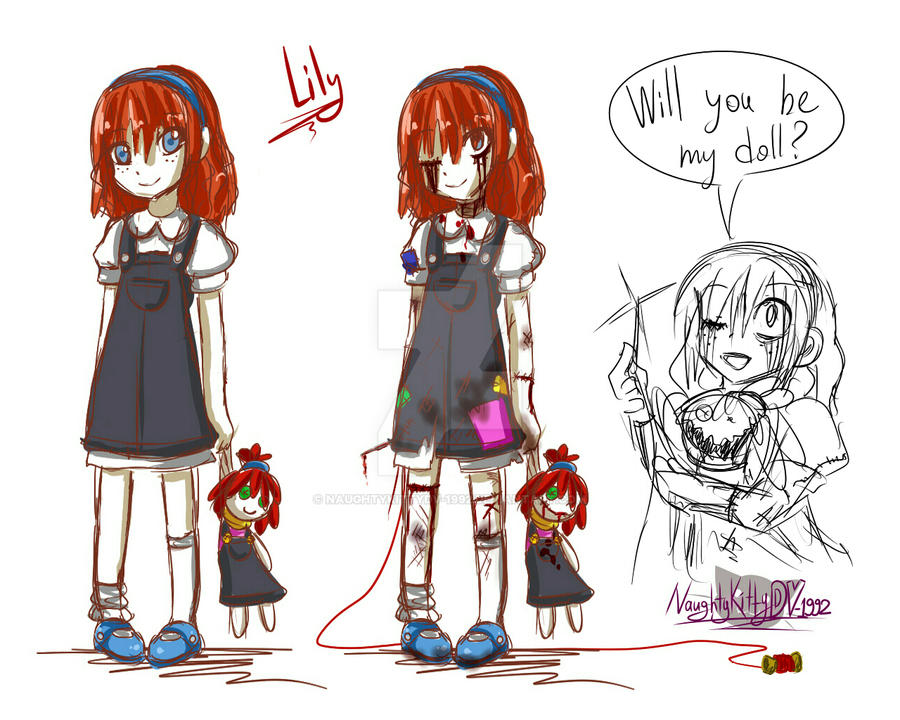 -Quick Doodle- Lily / Will you be my doll? by NaughtyKittyDV-1992