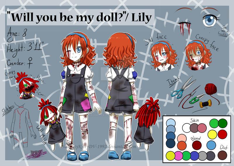 Creepypasta OC- Lily Reference Sheet by NaughtyKittyDV-1992