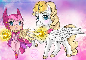 Princess Starla and Sunstar by laetcroft