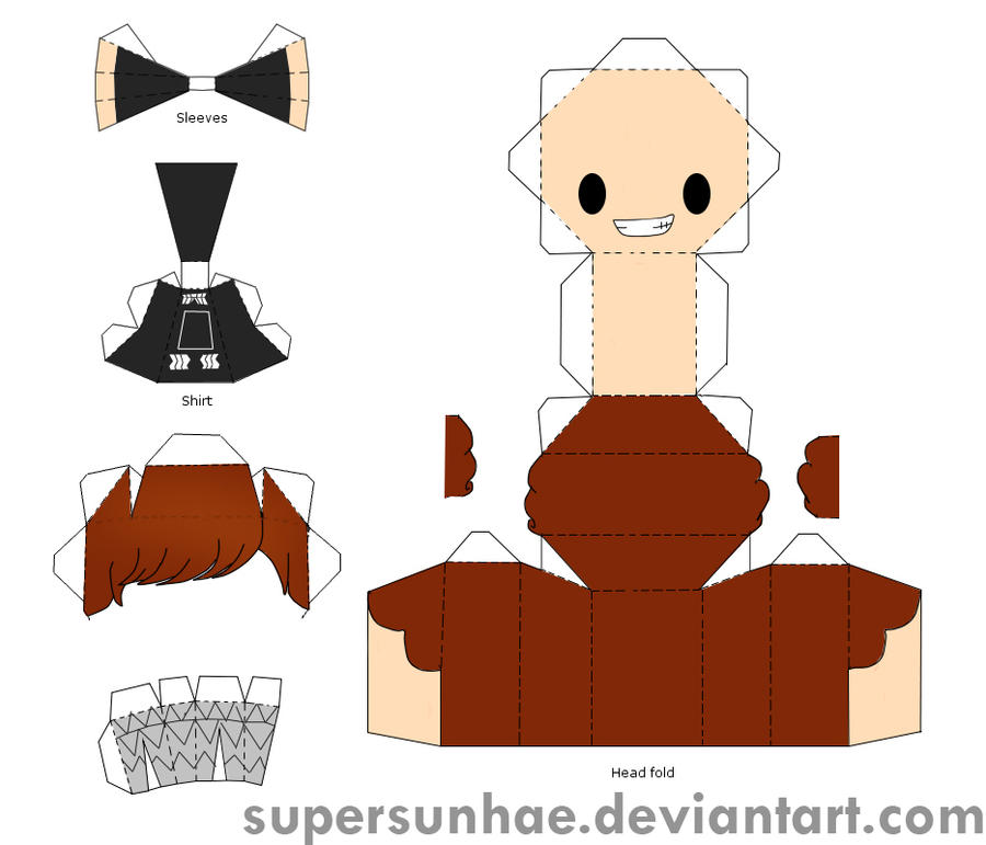 ExoK Papercraft Template By Supersunhae On Deviantart