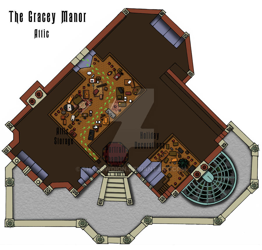 Haunted Mansion Attic Floor Plan by shadowdion on DeviantArt – Haunted House Floor Plans