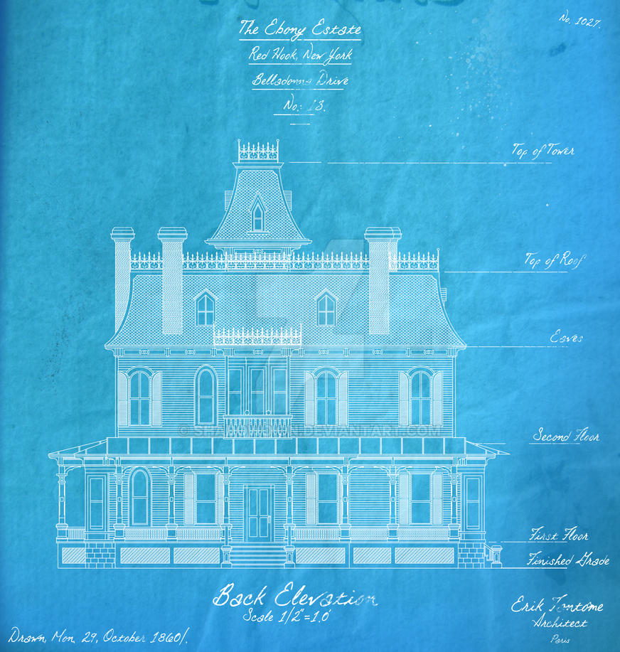 The Ebony Estate Back Elevation by shadowdion
