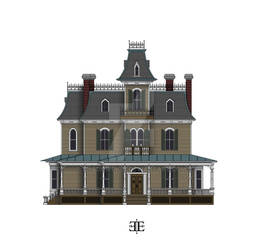 The Ebony Estate West Elevation Color WIP