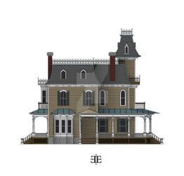The Ebony Estate North Elevation Color WIP
