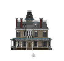 The Ebony Estate East Elevation Color WIP