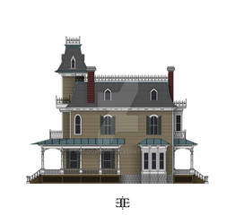 The Ebony Estate South Elevation Color WIP
