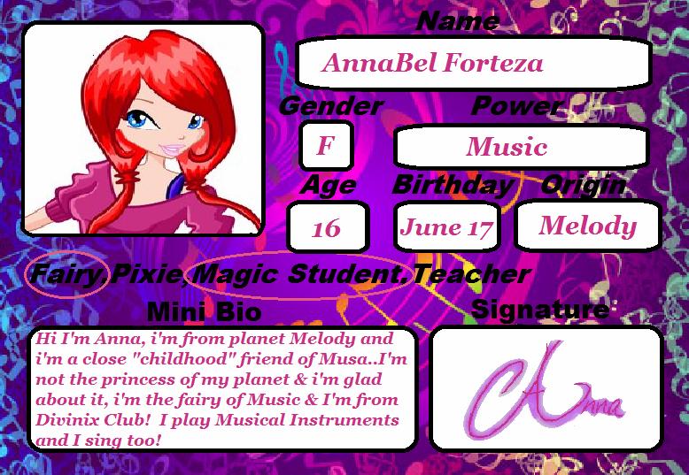 Anna's Academy Card! by JadeLuvsMusa