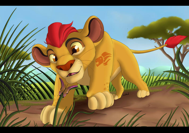 Kion and the butterfly by Themystichusky