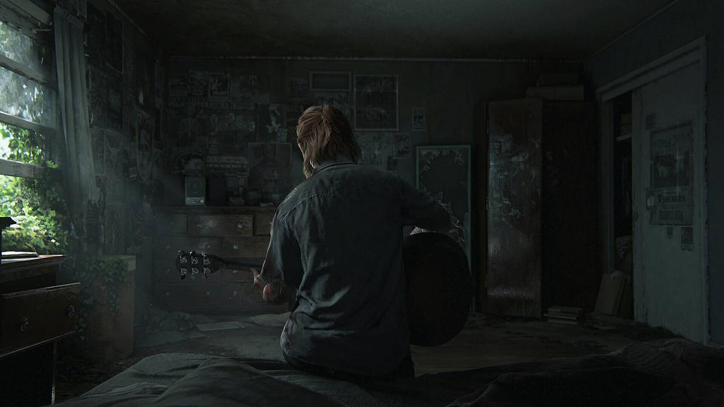 Ellie Plays Guitar The Last Of Us By Freezexy