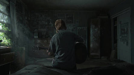 Ellie plays guitar (The last of us) by FreezeXY