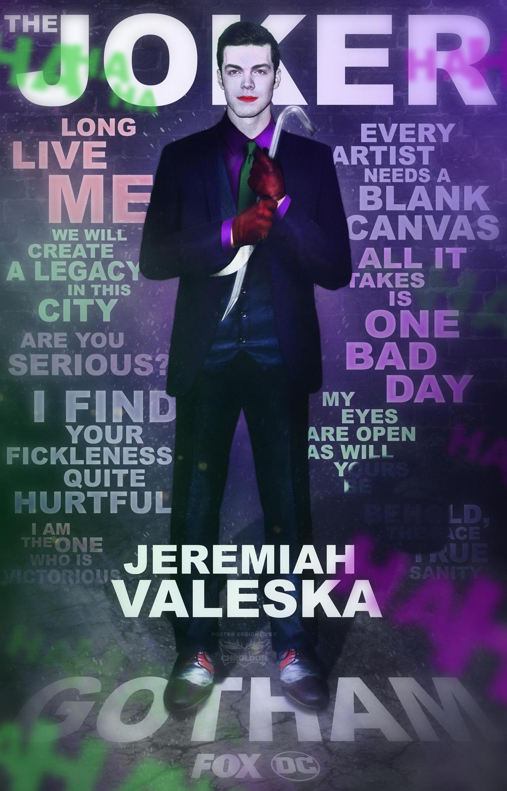 Jeremiah Valeska The Joker By Digestingbat On Deviantart .(arthur penn to jeremiah valeska)note arthur penn/ the ventriloquist, basil/ clayface, bridget edward nygma/the riddler, ivy pepper/ poison ivy, jervis tetch/mad hatter, jeremiah valeska/ the. jeremiah valeska the joker by