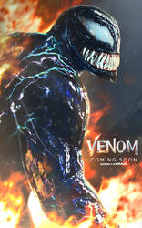 Venom 'Among the Fire' Poster by DigestingBat