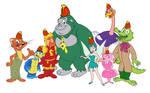Willys Wonderland gang as banana splits members
