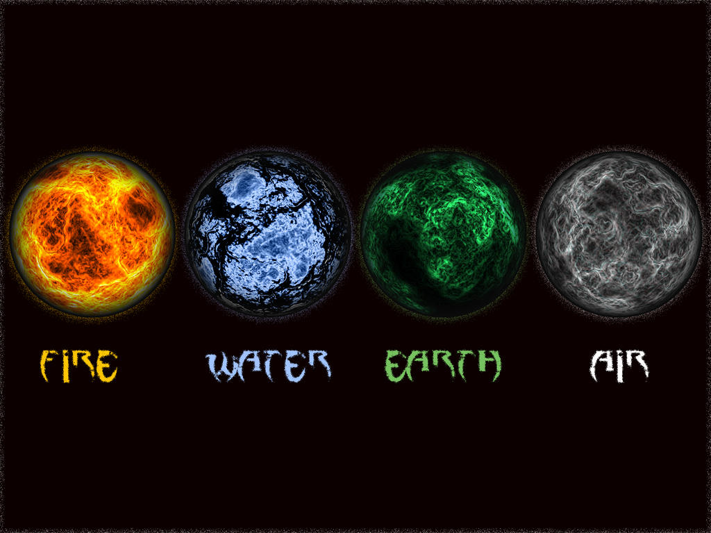 the four elements The four elements according to the ancients, the first matter has a fourfold structure which they attributed to the existence of four archetypal forces or elements of creation which they named earth, water, air, and fire obviously.