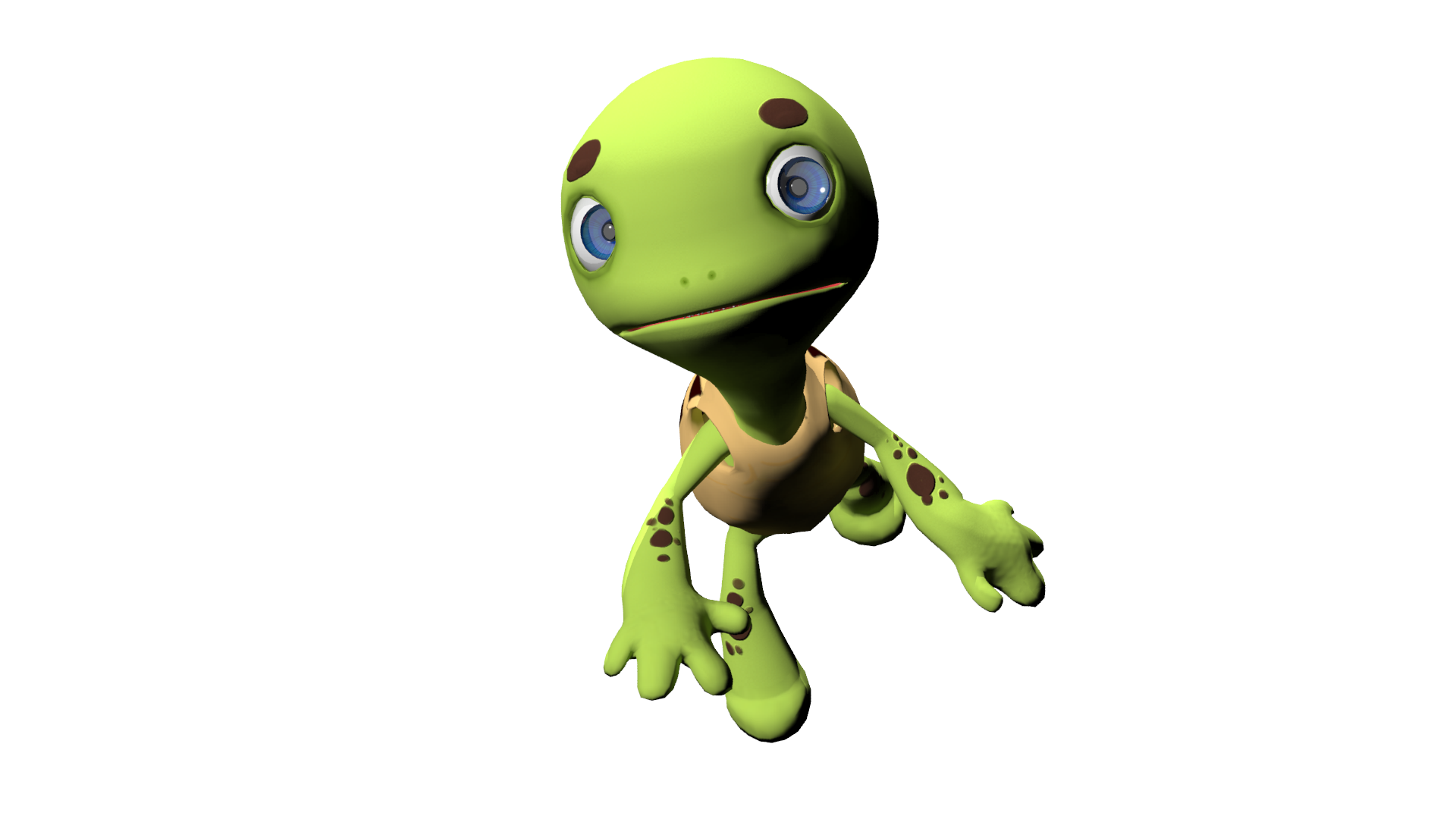 Turtle Charackter 3D by yellowrabbits