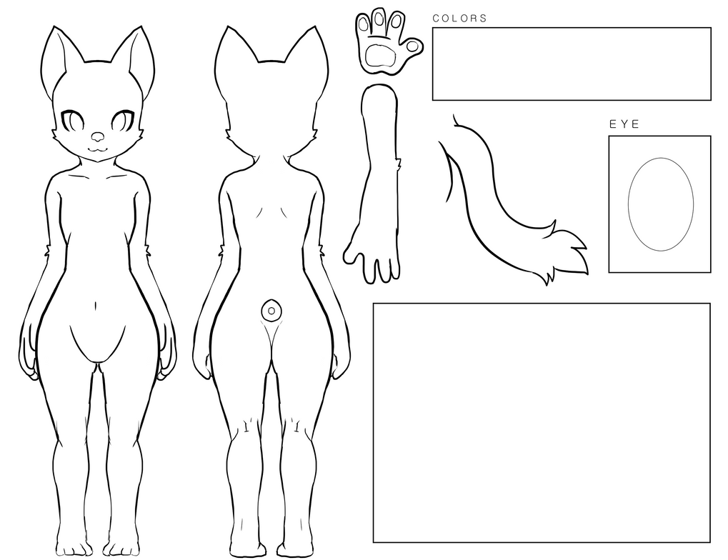 Furry Cat OC Ref by yellowrabbits