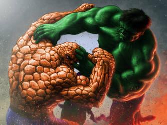 The Thing Vs Hulk by Ninni-V
