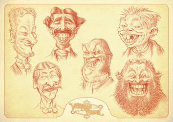 Victorian People - Smiling Guys