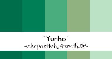 Yunho Color Palette by firemoth007