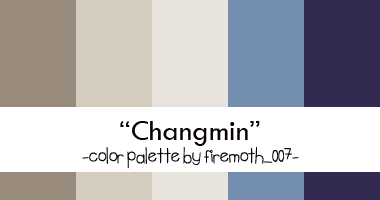 Changmin Color Palette by firemoth007
