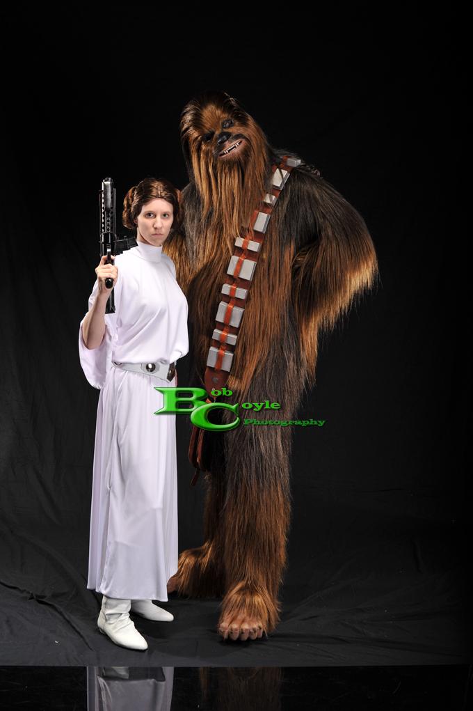 Leia and Chewie by Sheikahchica