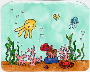 Little Ocean Scene by arilla