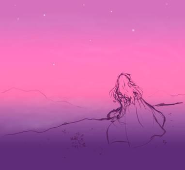 Purple Cliffside Dawn by arilla