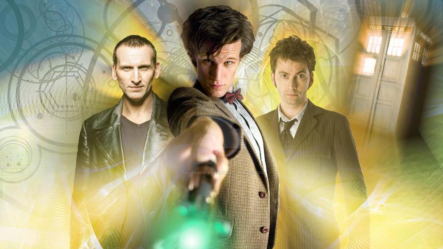 Doctor Who The 3 Doctors by dalekdom-fanart