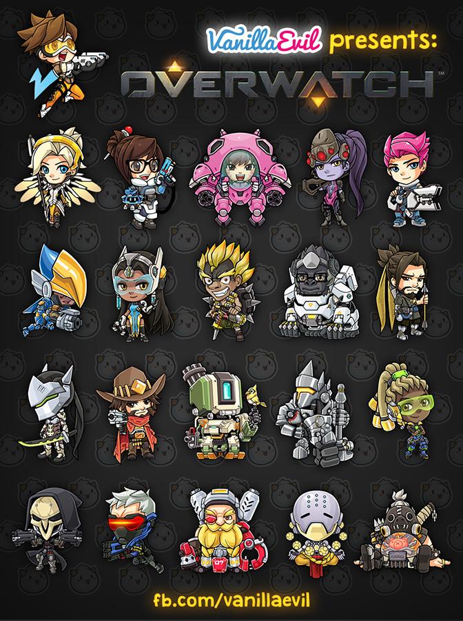 Overwatch Chibis by vmat