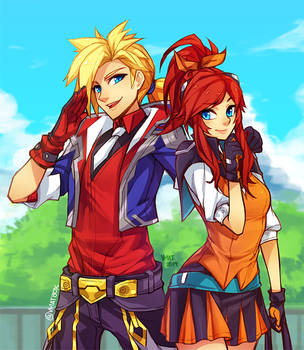 Battle Academia Lux and Ezreal by vmat
