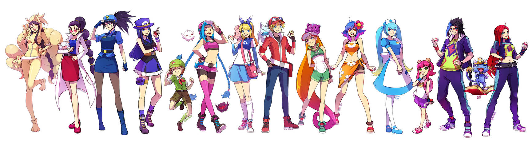 League of Legends champions as Pokemon Trainers by vmat