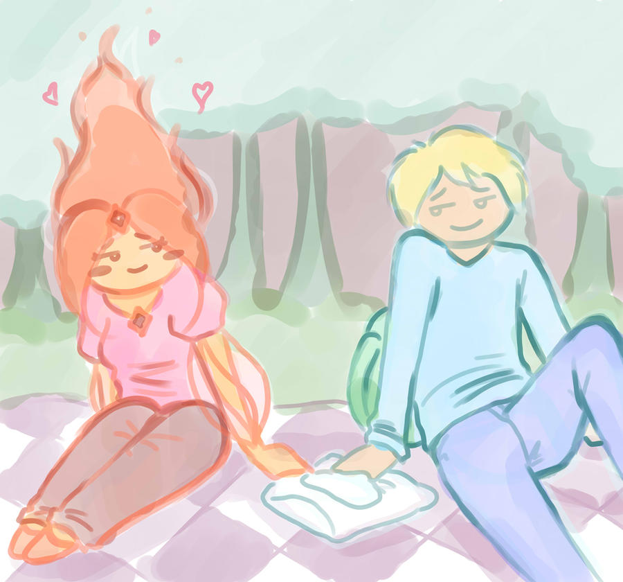 finn and flame princess by Angelkaat