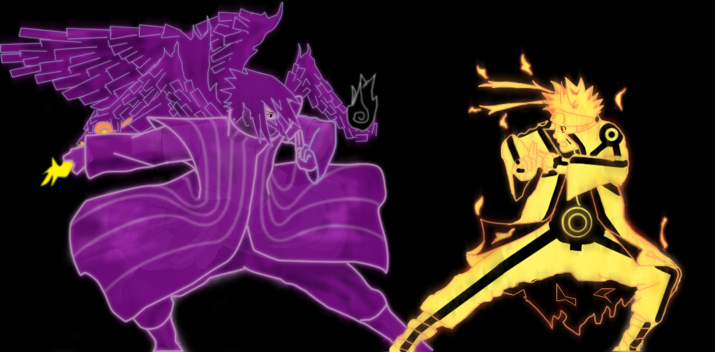 sasuke vs naruto: susanoo armor vs bijuu modo by tuanenam ...