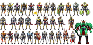 Kamen Rider Gaim 33 Arms