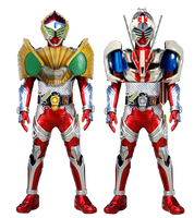 Kamen Rider Baron Beast and Mach Arms by tuanenam