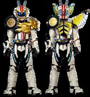 Kamen Rider Mach Beast-Leo and Banana-Knight by tuanenam