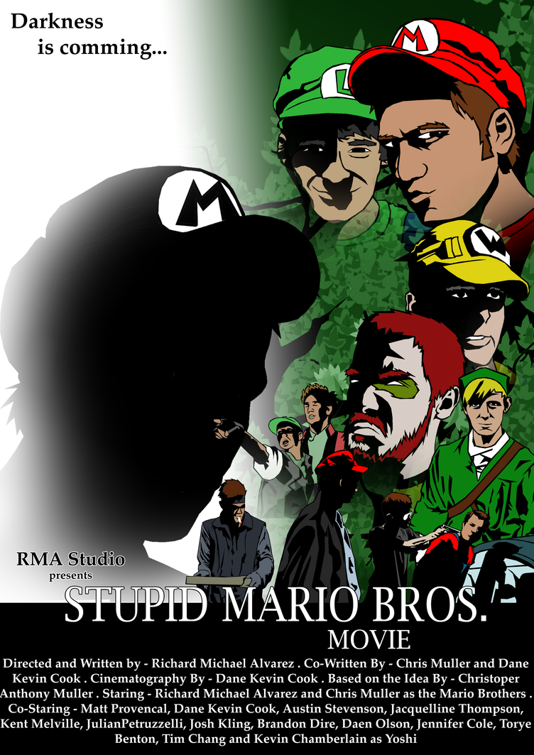 Stupid Mario Bros. Poster by Tom-Inad-Ous