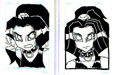 Angry Faerie sketch cards