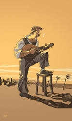 Fado Guitar Player Studie II by JCoelho