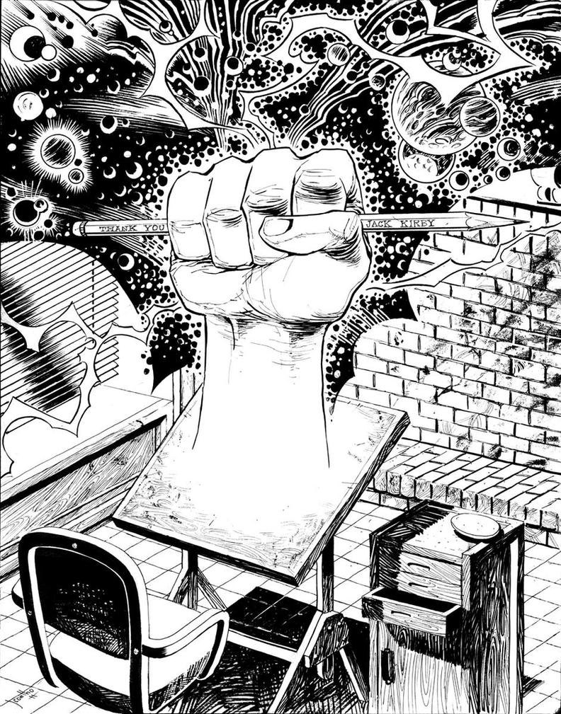 JACK KIRBY's Tribute inks by JCoelho