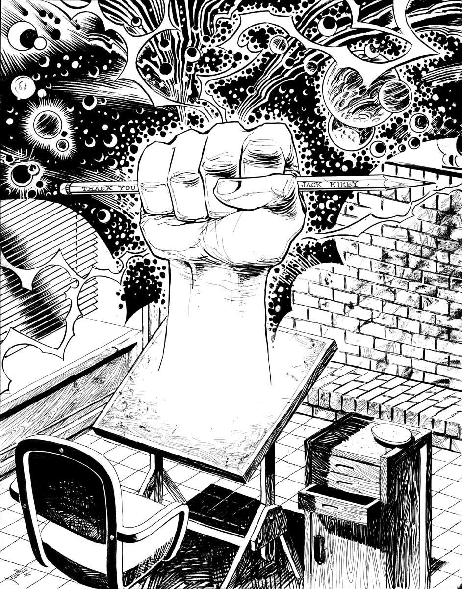 JACK KIRBY's Tribute inks by JCoelho