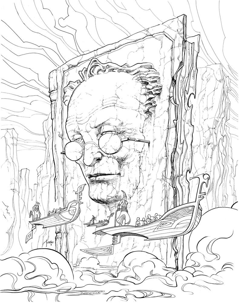MOEBIUS's Tribute inks by JCoelho