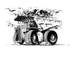 BNN's BIG and Pos Apocalyptic Bikers inks by JCoelho