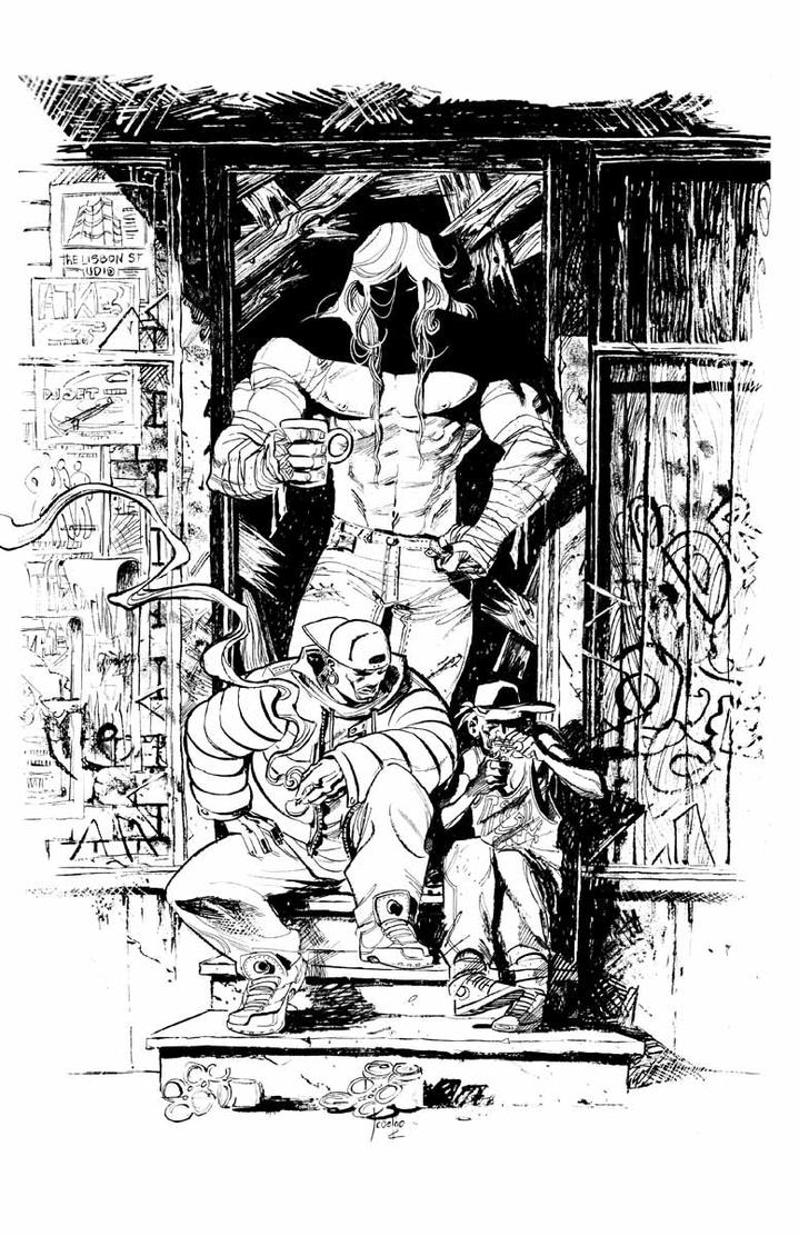 Luther Strode PINUP inks by JCoelho
